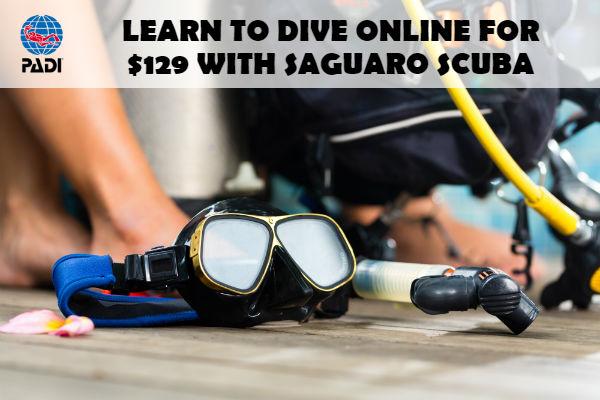 PADI Dry Suit Diver Certification in Arizona with Saguaro