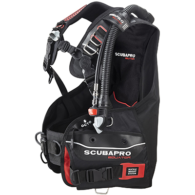 SCUBAPRO Equator with Balanced Inflator - Black/Red - (Italy)