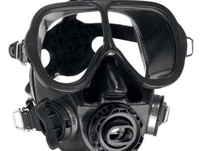 SCUBAPRO Full Face Mask with QD and Bag - Black - Black Skirt