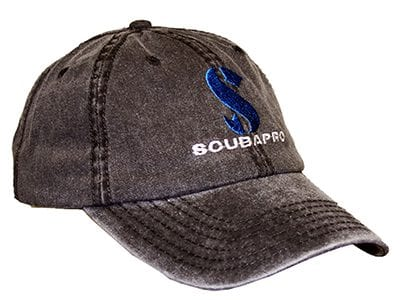 SCUBAPRO Washed Canvas Cap - Charcoal