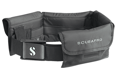 SCUBAPRO Weight Pocket Belt - Black with Black Nylon Buckle