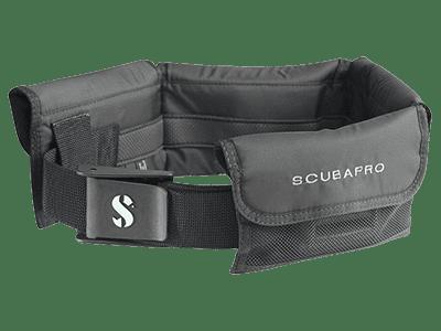 SCUBAPRO Weight Pocket Belt - Black with Black Nylon Buckle