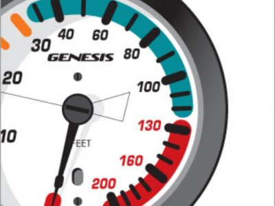 Genesis Scuba Pressure Gauge