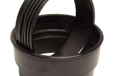 Bare PU Cuff Ring - Black