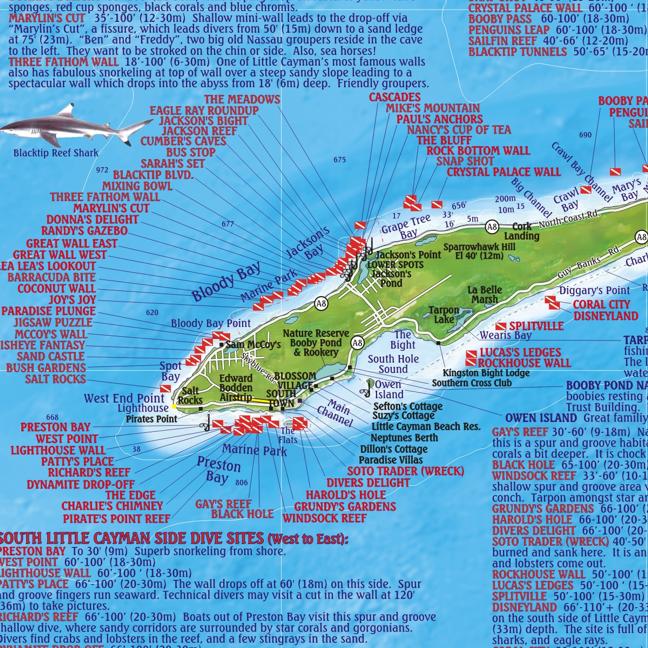 Cemetery Beach Cayman Islands Map