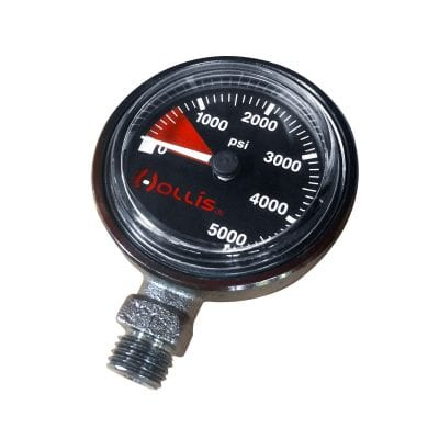 Hollis Pressure Gauge Module PSI Low Pressure Metal w/o Boot
