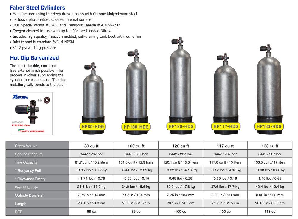 XS Scuba HPG Tanks - Saguaro Scuba