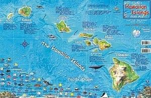 MAP, FOLDED, HAWAIIAN ISLANDS