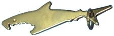BOTTLE OPENER SILVER SHARK