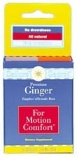 GINGER TABLETS FO MOTION SICKNESS