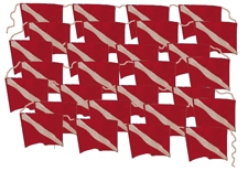 FLAG 100 FOOT BANNER PLASTIC