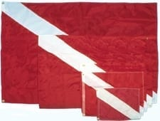 FLAG NYLON DIVE 36X45